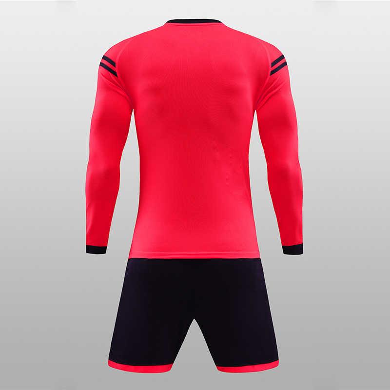 6e65f2730 ... 2019 Child Kids Men Football Jerseys Kit Long Sleeve Blank Soccer  Training Suit Futsal Team Customized ...