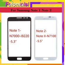 10pcs/lot touchscreen For Samsung Galaxy Note 1 N7000 i9220 NOTE II Note 2 N7100 Black Front Outer Glass touch Screen Lens Panel цены онлайн