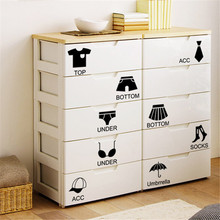 Hot Selling Removable Home Decor Wall Sticker Locker Bedroom Chest Sticker Storage Lable Art Stickers Diy Home Decoration Bw 16