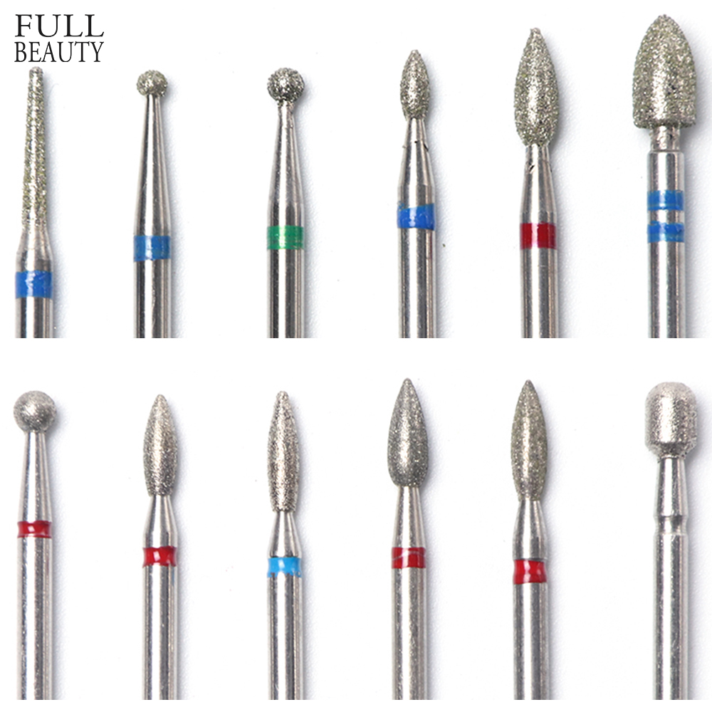 9 Types Milling Cutter For Manicure Diamond Nail Drill Bits Rotate Burr Electric Nail Drill Pedicure Remove Tool Accessory CHJG