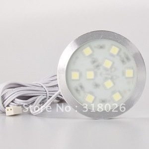 Image 2 - Diodo emissor de luz do ponto gabinete 9led dc12v 120lm 1.8 w redondo fino mobiliário doméstico decorativo guarda roupa gaveta mostrar caso pçs/lote
