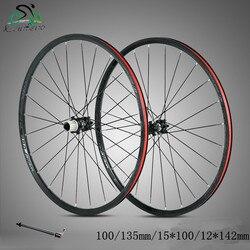 Koła do roweru górskiego MTB 27.5/29inch 24H hamulec tarczowy do rowerów koła 4 łożyska koła 100*15/142*12*135mm 8 11 prędkości w Koła roweru od Sport i rozrywka na