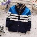 BibiCola 2017 детская мода новая коллекция весна осень джентльмен свитер мальчиков свитер рубашки дети досуг полосой свитер