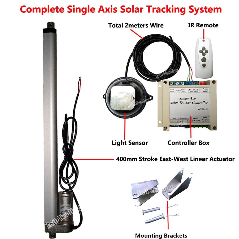 Dhl Free Shipping Sunlight Track Single Axis Solar Tracker W 18 Unico System Wiring Diagram Frete Grtis Nico Eixo 16 Atuador Linear Para O