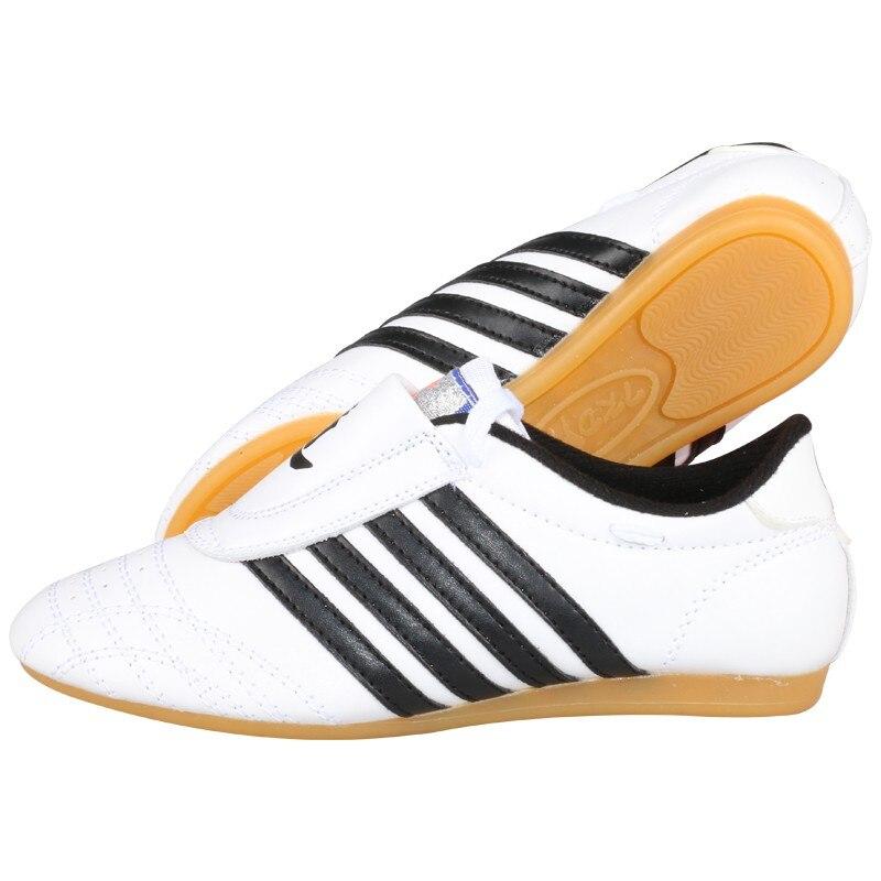 Taekwondo Shoes for Male Female Kids Adult WTF PU Leather Breathable Taekwondo Protectors Kung Fu Shoes Martial Arts Shoes