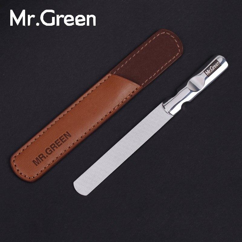 MR. GREENProfessional As Importações de aço inoxidável metal prego arquivo de Buffer manicure ferramentas de Dupla Face pequena fricção tira polimento