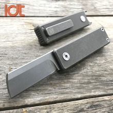 лучшая цена LDT Mini Folding Knife M390 Blade Titanium Handle Key Chain Knives Ouutdoor Camping Hunting Survival Pocket EDC Tools Small