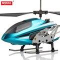 100% original syma 3.5ch rc helicopter indoor s107w liga de alumínio inquebrável aviões de controle remoto para as crianças