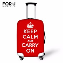 FORUDESIGNS Travel Prints Travel Luggage Cover For 18-30 Inch Trolley Case Elastic Suitcase Stretch Thick Case Cover with Zipper hmunii case cover thick elastic luggage protective cover zipper suit for 18 30 inch trunk case travel suitcase covers bags a1 14