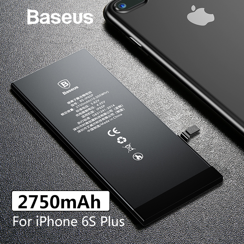 Baseus Phone-Battery Replacement-Batteries Plus 2750mah Original For 6S With Free-Repair-Tools