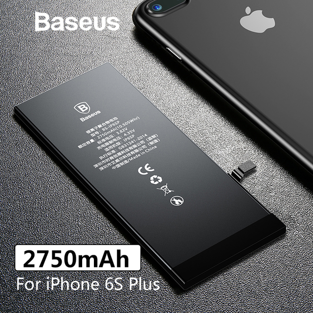 premium selection 5e7e4 d74ca US $19.99 30% OFF|Baseus Original Phone Battery For iPhone 6S Plus  Replacement Batteries For iPhone 6S Plus 2750mAh with Free Repair Tools-in  Mobile ...