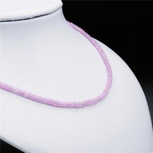 Image 4 - Joyería clásica de piedra Natural de liquidación hecha a mano simplemente rosa púrpura amatista cristales cuentas cadena collar
