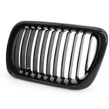 1pc Front Grille for BMW E36 97-99 318i 320i 325i M3 Bright Black Mesh Grilles Fcarbon fiber paint Front mesh Grill