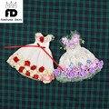 Бесплатная доставка подходит совместное Кукла Весенний цветок цвет платья фиолетовый и красный