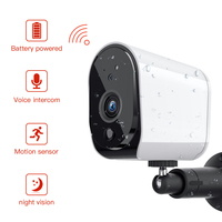 FREDI Lower Power Outdoor IP Camera 1080P Really Wireless Surveillance Camera Home Security Waterproof Battery WiFi IP Camera