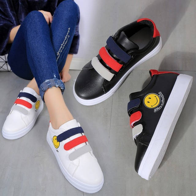one size smaller shoes teenager cute student school cartoon shoes sapatos femininas lady casual magic hook shoes leisure shoes