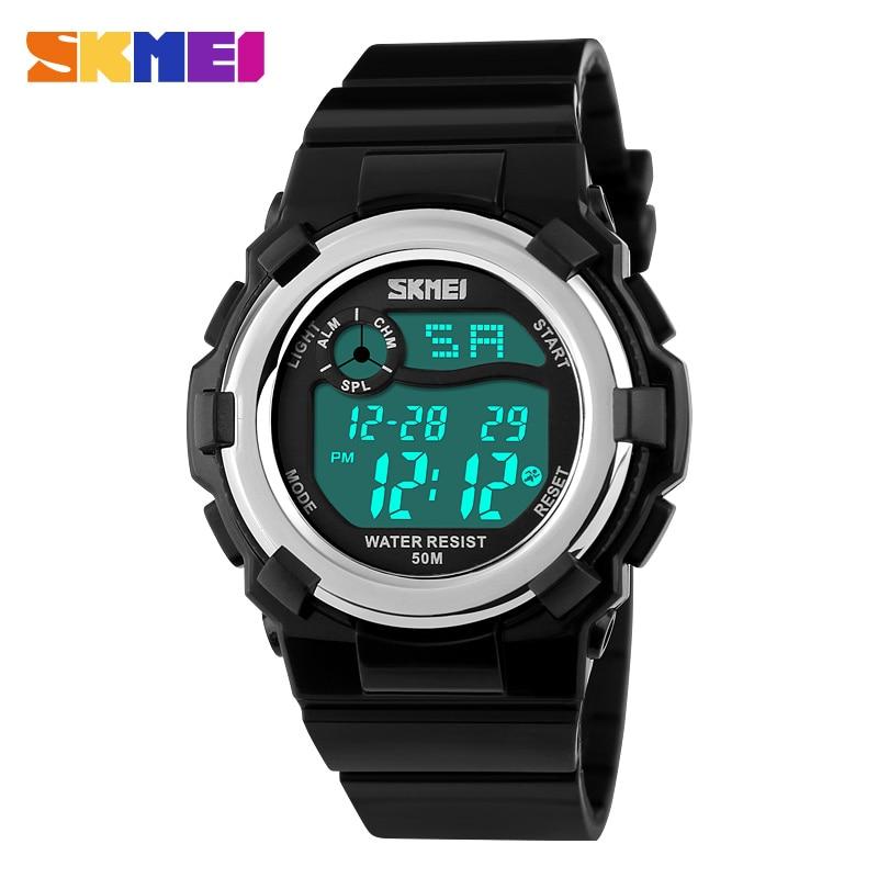 SKMEI Brand Children Sport LED Digital Wristwatches Boy Girl Waterproof Alarm Watches Fashion Cute Cartoon Jelly