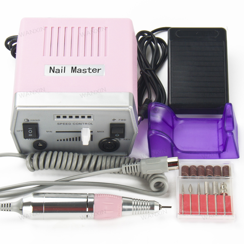 30000rpm Pink Pro Electric Nail Drill for Nail for Nail Art Gel Polish Manicure Pedicure Files Electric Manicure Drill Accessoy diy 3d gold silver transparent mini caviar beads gel polish nail art tips charm metallic pearl ball pro manicure pedicure
