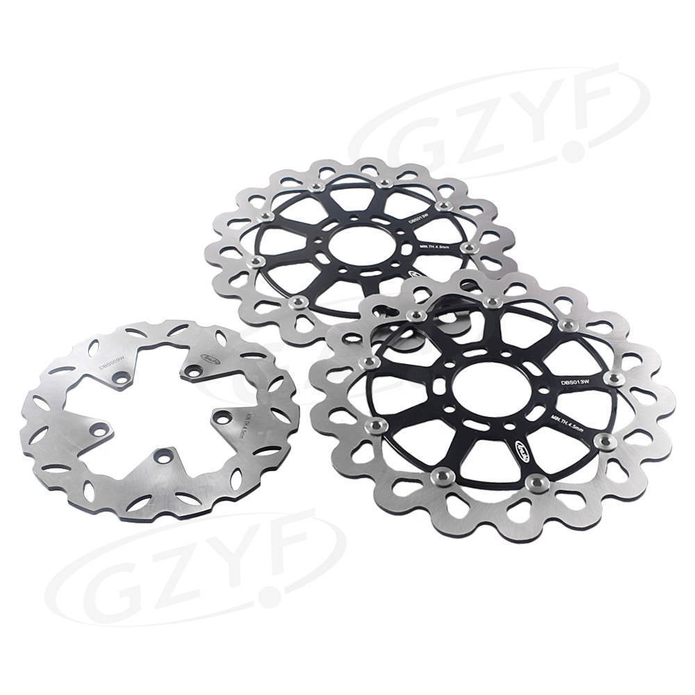 Motorcycle Front Rear Brake Disc Rotors Set For Suzuki GSXR1300 Hayabusa GSX1300R 1999 2000 2001 2002 2003 2004 2005 2006 2007 dwcx 1j5853665b 1j5853666c front lower grille bumper vent for volkswagen vw jetta bora mk4 1999 2000 2001 2002 2003 2004