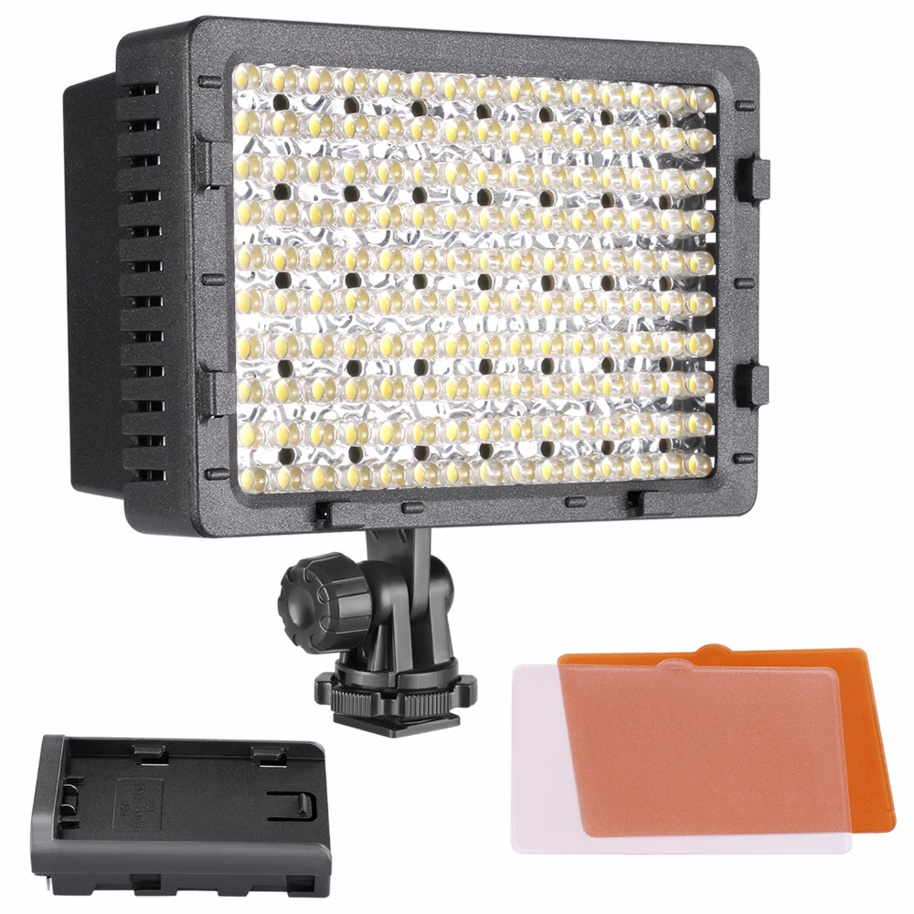 NEEWER 160 LED CN-160 Dimmable Ultra High Power Panel Digital Camera / Camcorder Video Light, LED Light for Digital SLR Cameras travor 2 in 1 photography 160 led studio lighting kit dimmable ultra high power panel digital camera dslr camcorder led light