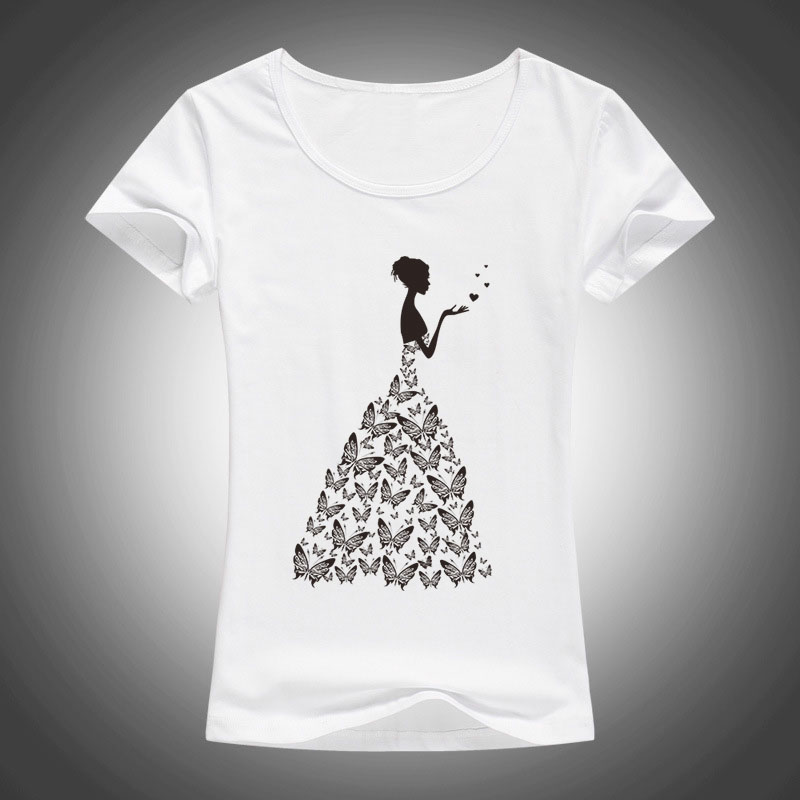 2017 Moda Dasma e bukur e fluturave T Shirt Womens Risia Rroba - Veshje për femra