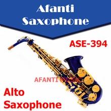 Afanti Music  Eb tone / Brass body /  Electrophoresis Gold Alto Saxophone (ASE-394)