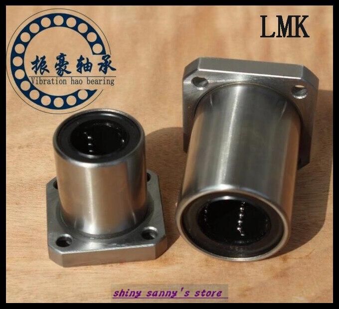 все цены на 6Pcs/Lot LMK12UU 12mm Square Flange Type Linear Motion Bearing Bushing Ball Bearing CNC Parts Brand New онлайн