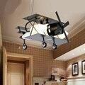 The new American aircraft children room creative cartoon retro pendant lighting LED lamp boy bedroom Pendant Lights