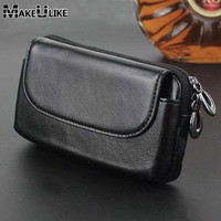 Genuine Leather Phone Pouch 5 5 For Samsung Galaxy Note 5 Note 2 3 4 Belt