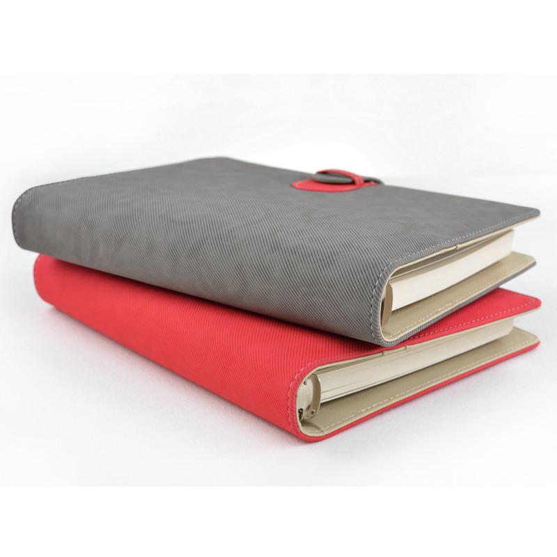 European style 8 5 Inch Curly Weave Cashmere Stitching Loose leaf Book A5 Notebook Business Personality Customized Logo in Notebooks from Office School Supplies