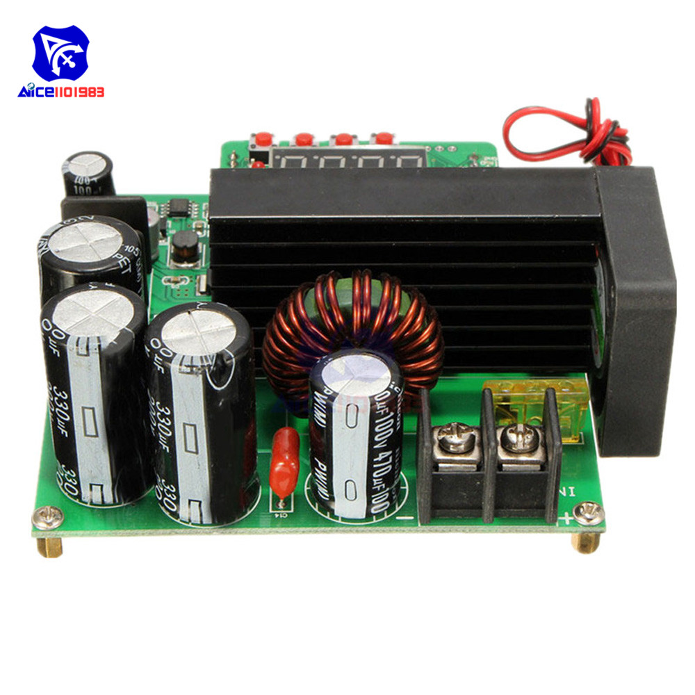 Image 2 - JUNTEK BST900W DC DC 8 60V to 10 120V Step Up Module LED Control Boost Converter Voltage Regulator Transformer Module-in Integrated Circuits from Electronic Components & Supplies