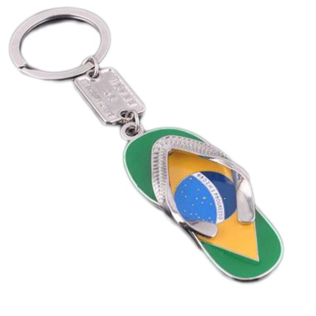 Brazil Flag Slipper Shape Key Ring