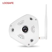 LOOSAFE Wifi CCTV Camera 3MP Wi-fi Security Camera 360 Degree Panorama Wireless CCTV Surveillance Camera Indoor Outdoor IP Cam