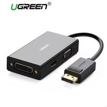 Ugreen 3 in 1 Displayport DP ZUM HDMI VGA DVI Adapter 4K Männlichen zu Weiblichen Display Port Kabel Konverter für HP PC Laptop Projektor