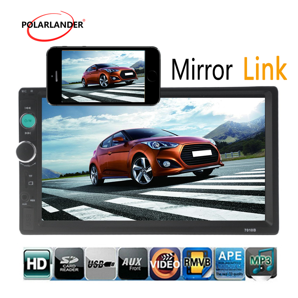 steering wheel control 2 DIN 7 Inch Bluetooth Mirror Link Car Radio Stereo video FM USB
