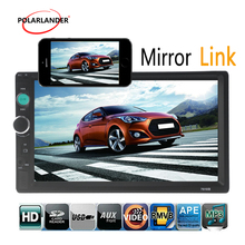 steering wheel control 2 DIN 7 Inch Bluetooth Mirror Link Car Radio Stereo video FM USB MP4 MP5 Player support rear camera