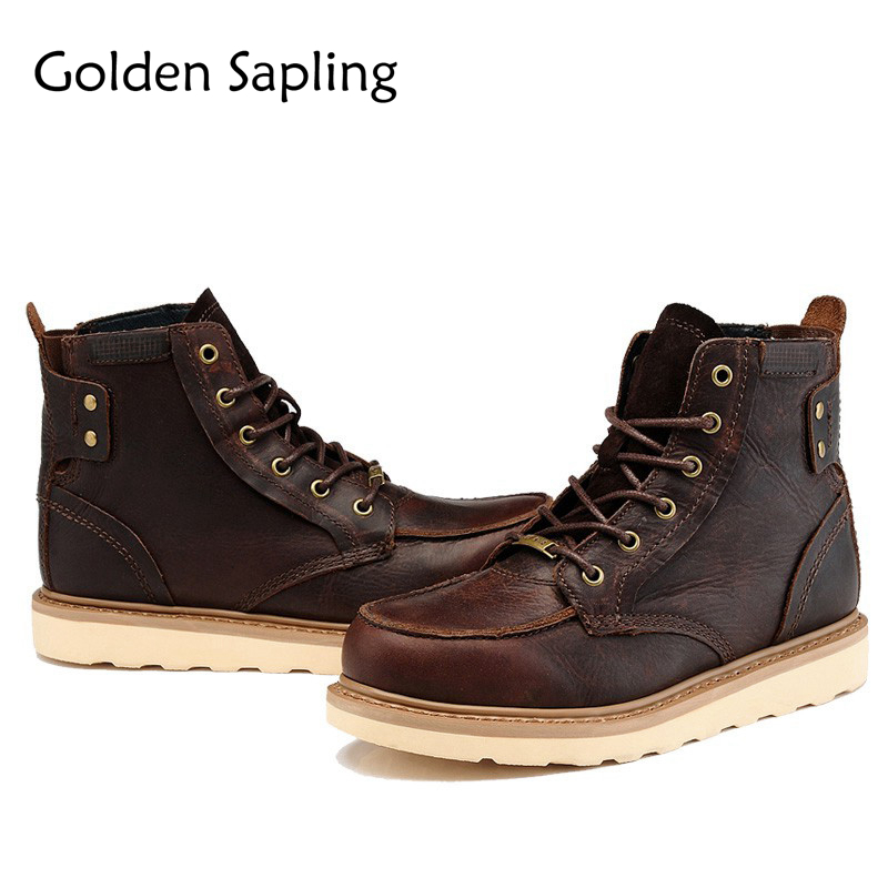 Golden Sapling Man Sneakers Men's Tactical Boots Breathable Genuine Leather Men Tracking Shoes Outdoor Mens Sport Trekking Boots веб камера a4tech pk 836f
