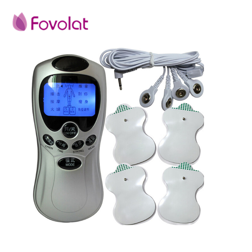 4 in 1 Body Healthy Care Digital Meridian Tens Therapy Massager Machine Relax Muscle Pain Relief Acupuncture Therapy High Qualit 4 electrode tens acupuncture electric therapy massageador machine pulse body slimming sculptor massager apparatus body care