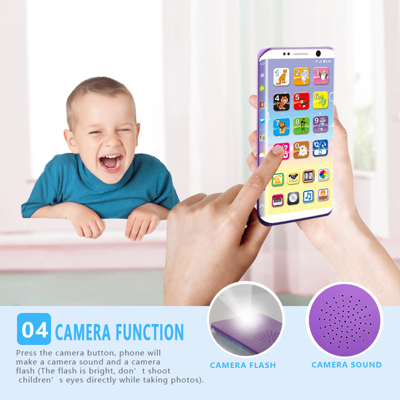 Educational Smart Phone Toy USB Port Touching Screen For Child Kid Baby AN88
