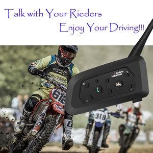 Image 5 - 2020 Version V6 1200M 6 Riders BT Multi Interphone Bluetooth Intercom Motorcycle Wireless Headsets Headphones Helmet Headset