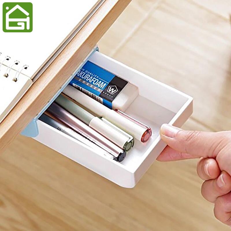 Aliexpress Com Buy Self Stick Pencil Tray Under Desk
