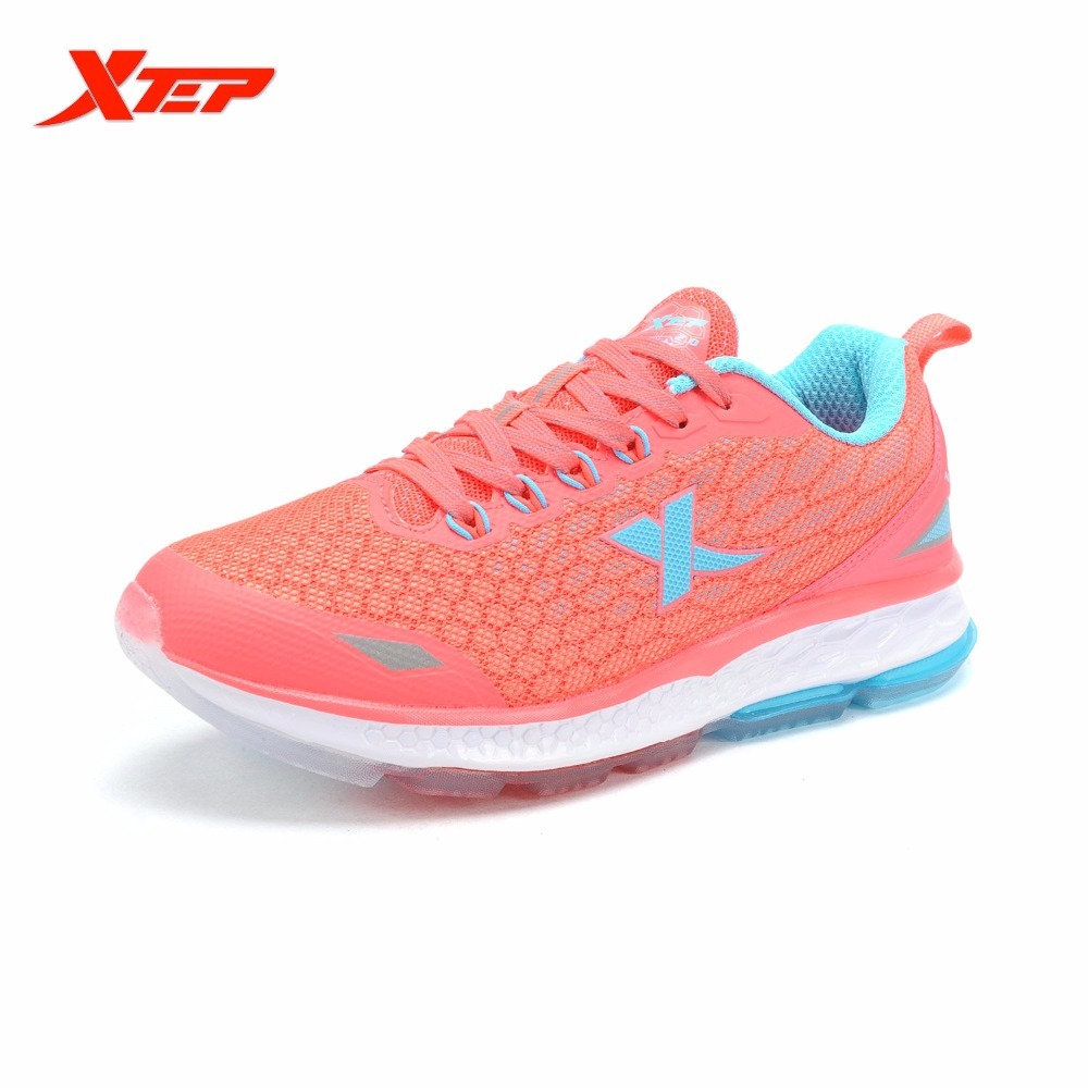XTEP Brand Light Pink Running For Women Damping Anti-slip Athletic Sneaker Air Causion DMX Ladies Outdoor Sports Tenis Shoes top mini sport bluetooth earphone for samsung galaxy j5 2016 dual sim earbuds headsets with microphone wireless earphones