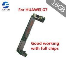 JUN FUN for HUAWEI G7 L01 3G 4G Support Unlocked Mainboard EMUI 16GB-ROM 2GB-RAM