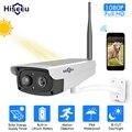 Hiseeu камера видеонаблюдения, солнечная панель, перезаряжаемая батарея, 1080 P, Full HD, для улицы, в помещении, безопасность, WiFi, ip-камера, широкий об...