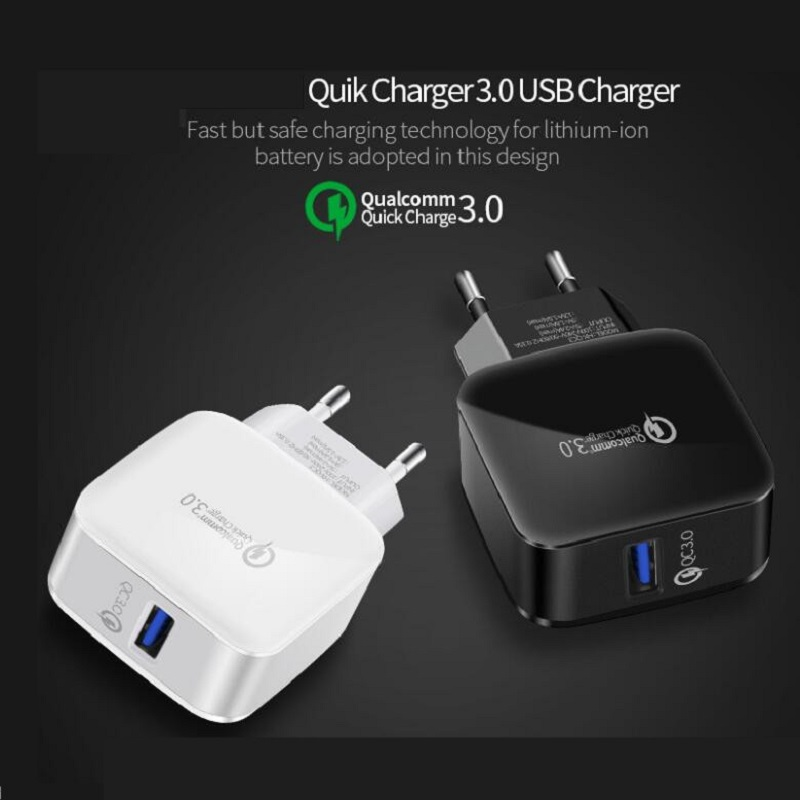 <font><b>USB</b></font> <font><b>Charger</b></font> Quick Charge 3.0 Quick <font><b>Charger</b></font> 18W EU Plug Fast <font><b>Charger</b></font> <font><b>5V</b></font> 3A <font><b>wall</b></font> <font><b>charger</b></font> adapter For iPhone Samsung Xiaomi image
