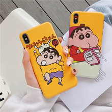 Cute Cartoon Crayon Shin chan Phone Cases For iPhone 8 7 6S 6 S Plus Case Silicon Soft TPU Cover Case For iPhone X XS MAX XR цена и фото