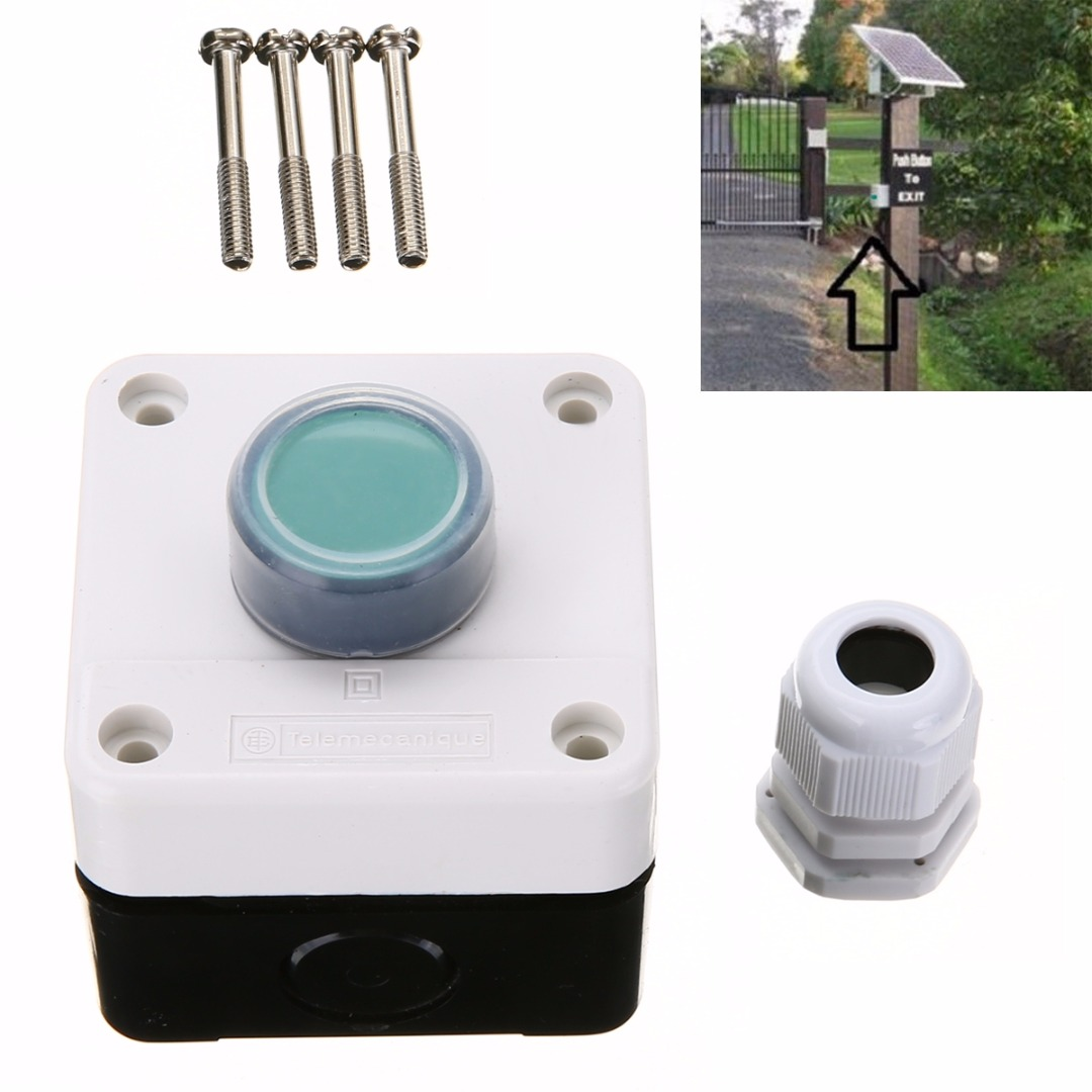 New One Button Control Box for Gate Opener High Quality Weatherproof Push Button Switch 22mm gate one