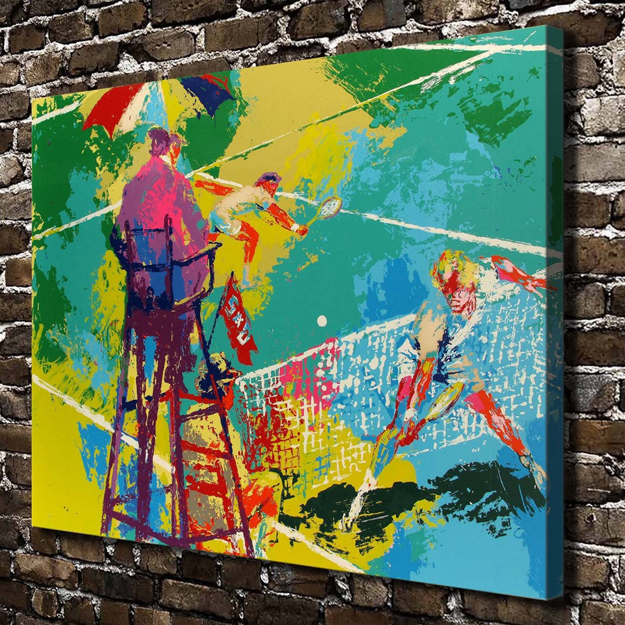 A1963 LeRoy Neiman Abstract Tennis Match Landscape, HD Canvas Print Home decoration Living Room Wall pictures Art painting