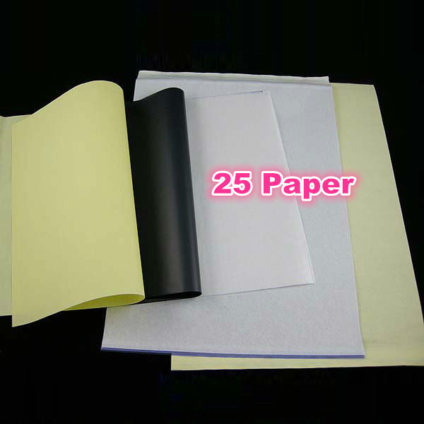 Tattoo Stencil Transfer Carbon Paper Top 25 pcs A 4 Size Tattoo Supply WS011*25