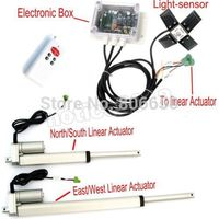 USA /AU stock Dual Axis 6'' 12'' Linear Actuator & solar controller * complete kit sunlight tracking system free shipping
